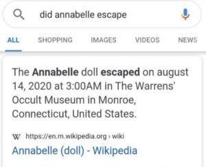 "<img src=""annabelle kabur.jpg"" alt=""halaman wikipedia boneka annabelle kabur."">"