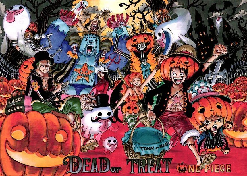 One Piece Halloween. Straw Hat halloween theme. Tema halloween one piece