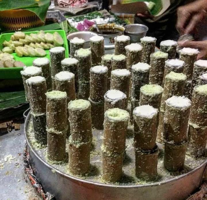 Puthu Lanang, Rekomendasi Kuliner Jajan Pasar di Malang.