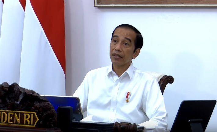 Presiden Joko Widodo (Jokowi) peringatkan bahaya La Nina dalam pembukaan rapat terbatas, Selasa (13/10) (Foto: tangkapan layar YouTube Sekretariat Negara)
