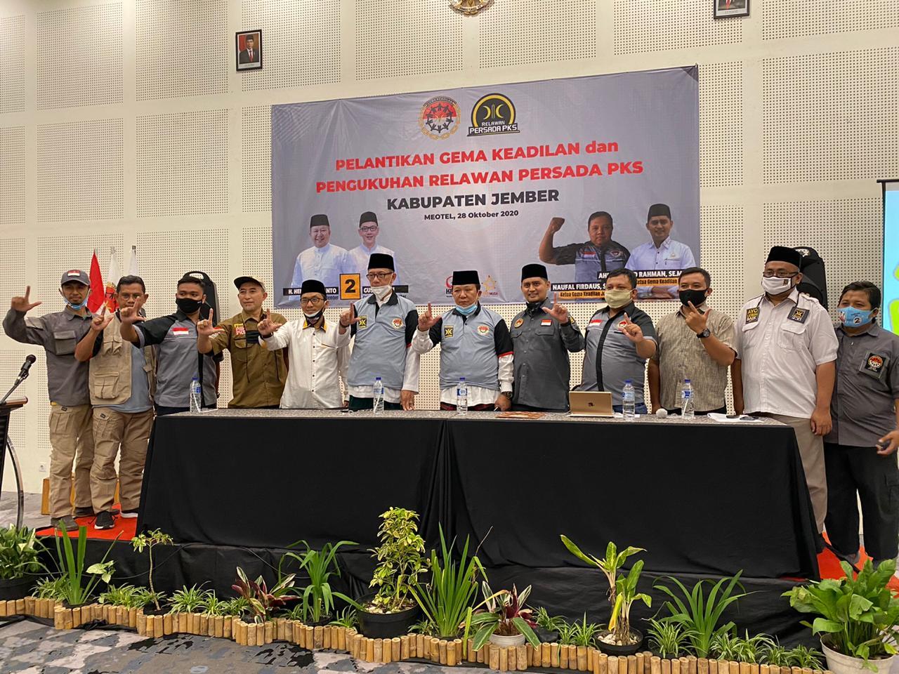 Pelantikan dewan pengurus Gema Keadilan Kabupaten Jember