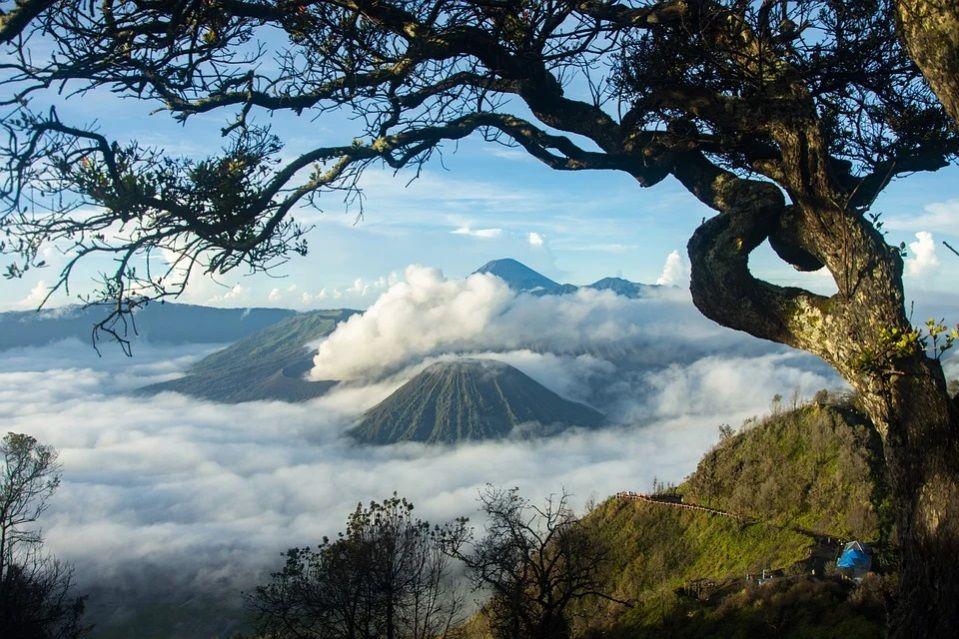 Pemandangan gunung bromo. Libur Panjang, Kunjungan ke Gunung Bromo Membeludak