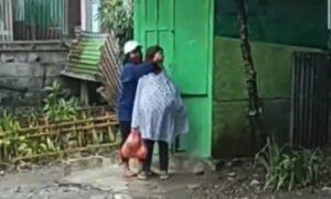 Tangkapan layar viral video ibu dipukuli di Malang