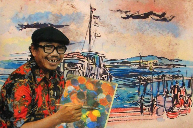 Tino Sidin, seniman dan guru menggambar asal Indonesia yang jadi Google Doodle hari ini