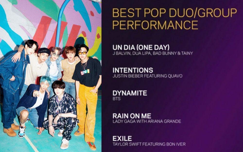 BTS Grammy Awards Dynamite