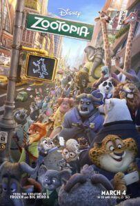 Poster film animasi Zootopia