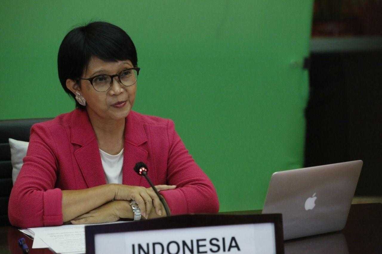 Menteri Luar Negeri RI Retno Marsudi dalam APEC Ministerial Meeting