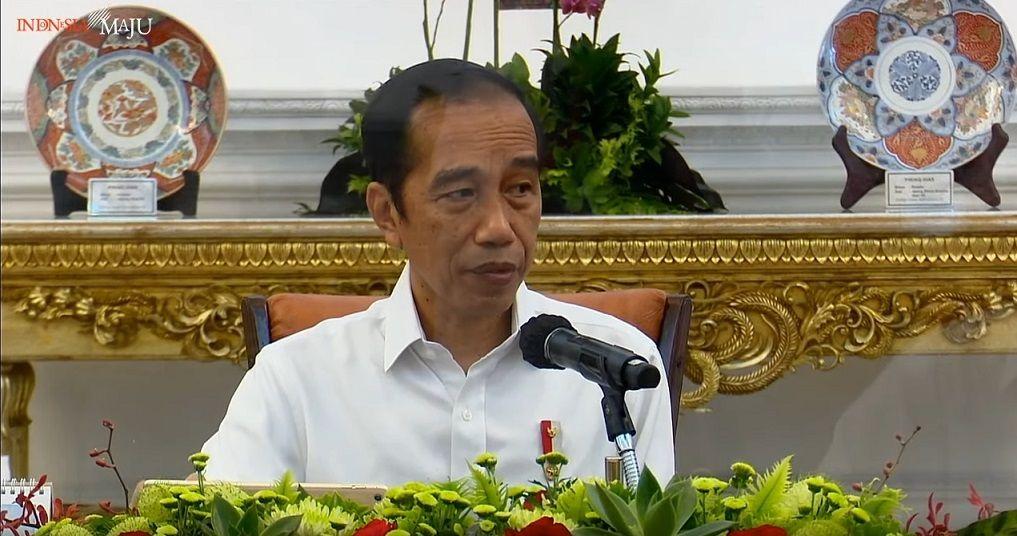 Presiden Joko Widodo (Jokowi) dalam ratas Laporan Komite Penanganan Covid-19 dan Pemulihan Ekonomi Nasional