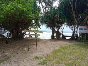 Lokasi pantai taman ayu