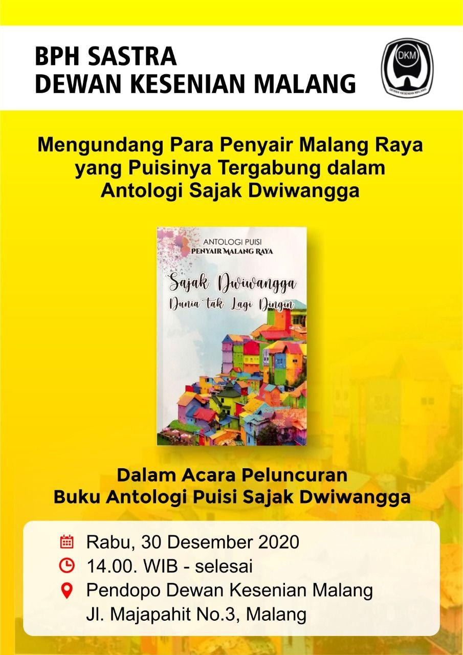 """Buku antologi puisi bertajuk """"Sajak Dwiwangga, Dunia Tak Lagi Dingin"""" merupakan buku dengan dua bahasa. (Foto: Dokumen)"""