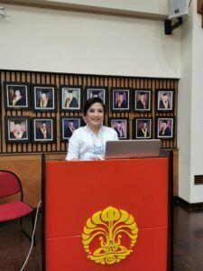 Dina Listiorini yang juga dosen Ilmu Komunikasi FISIP Universitas Atma Jaya, Yogyakarta. (Foto: Dokumen FISIP UI)