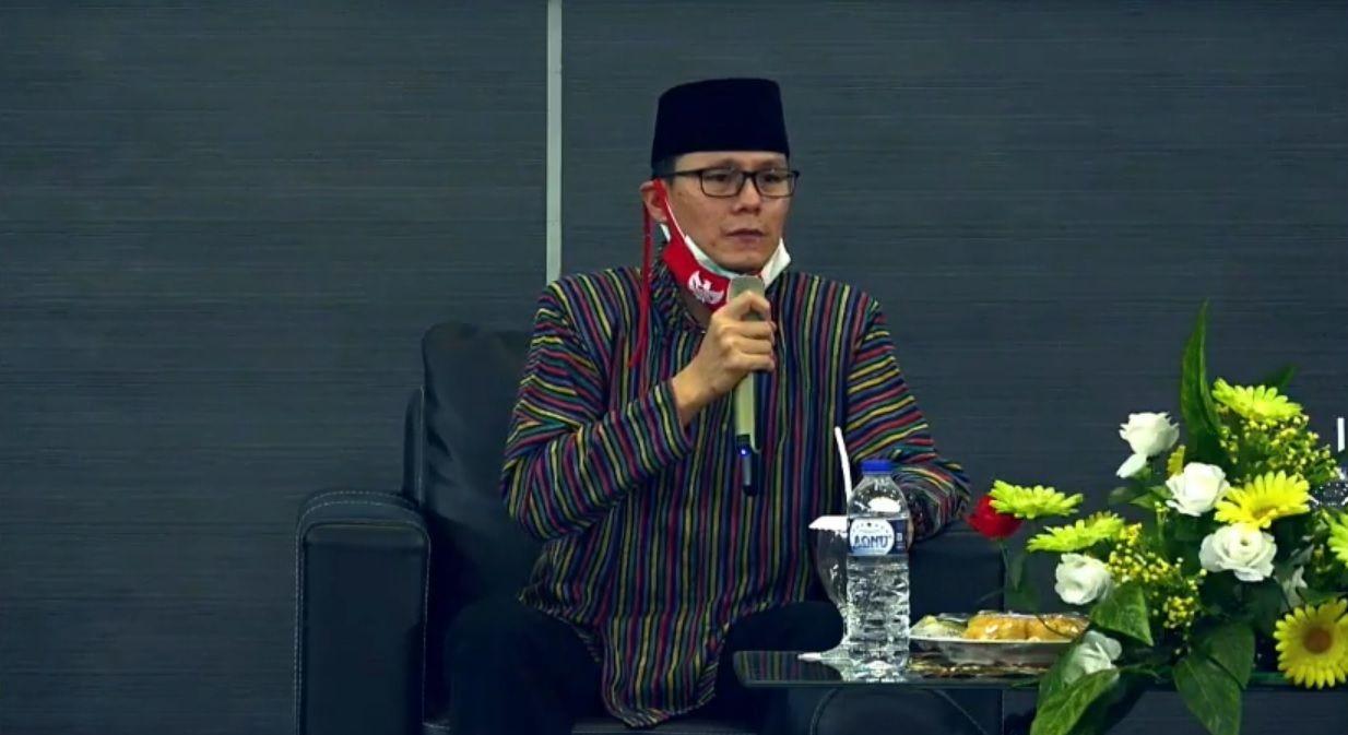 Wakil Ketua Perhimpunan INTI (Indonesia-Tionghoa), RT Sudarno Hadipuro dalam acara Haul Virtual Gus Dur ke-11. (Foto: Dokumen)