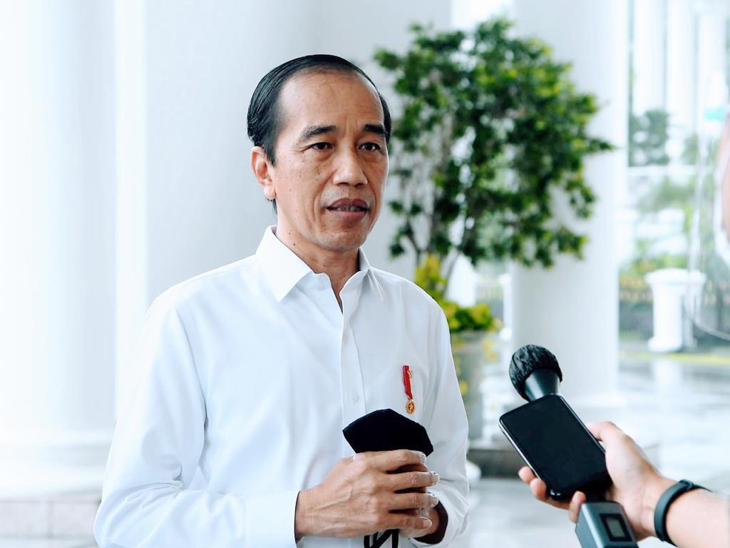 Jokowi memberikan keterangan resmi terkait Mensos Juliari Batubara yang terlibat korupsi. (Foto: Biro Pers Sekretariat Presiden)