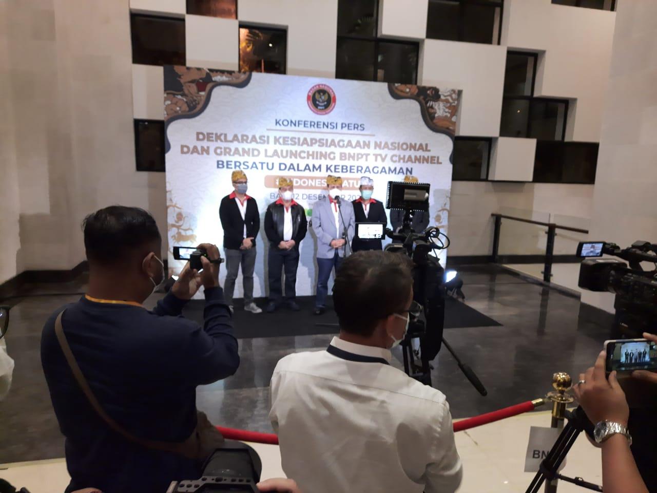 Deklarasi Kesiapsiagaan Nasional Dan Grand Launching BNPT TV Channel. (Foto: Dokumen)