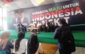 Jumpa pers yang diadakan MA-Mujiaman mengenai klaim adanya kecurangan dalam Pilkada Surabaya 2020, Kamis (17/12/2020), Pukul 13.00 WIB, Jl. Basuki Rahmat No.139 Surabaya (Foto: Rangga Aji/Tugu Jatim)