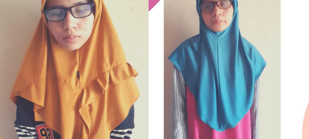 Wanda Nur Nabilah dan Windi Nur Fadilah siswa SMA Muhammadiyah 1 Gresik menjadi Juara Utama Lomba Tahfiz Quran Muhammadiyah Education (ME) Award 2020. (Foto: SMAM 1 Gresik)