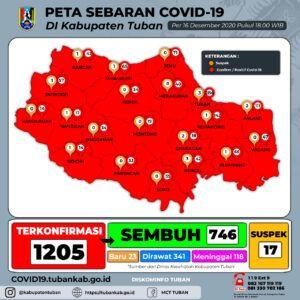 Zona Merah COVID-19 Kabupaten Tuban. (Foto: Dokumen Pemkab Tuban)