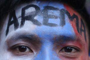 Bahasa walikan menjadi identitas Arek-Arek Malang (Arema). (Foto: Ben/Tugu Jatim)