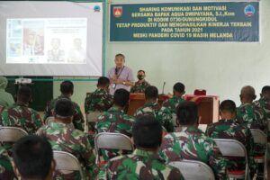 Dr Aqua saat memberikan motivasi di Kodim 0730/Gunungkidul. (Foto: Dok/Tugu Jatim)