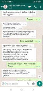 Tangkapan layar penipuan mengatasnamakan Pemkab Bojonegoro. (Foto: Humas Pemkab Bojonegoro/Tugu Jatim)