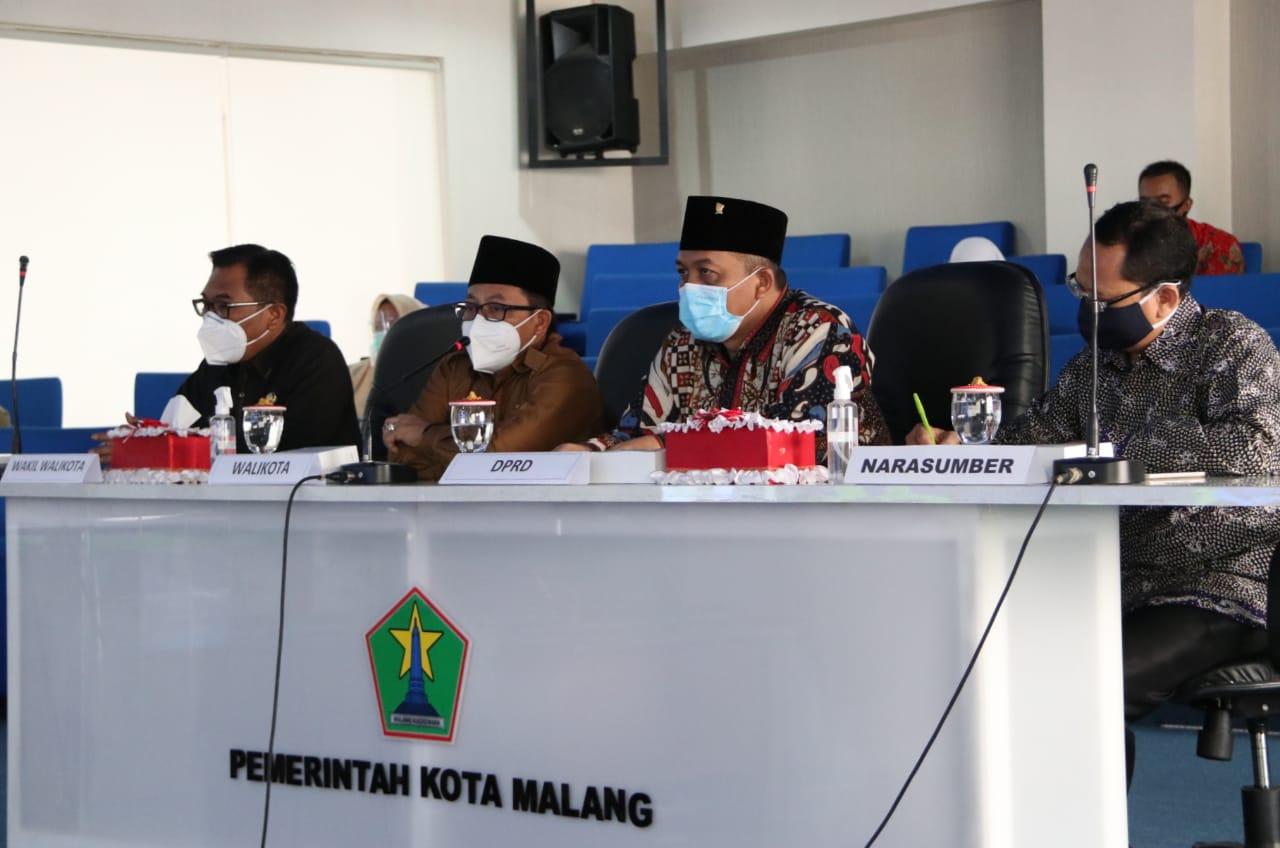 Wali Kota Malang sedang melakukan Musrenbang Anak secara online Senin (25/01/2021). (Foto: Feni Yusnia/Tugu Malang)