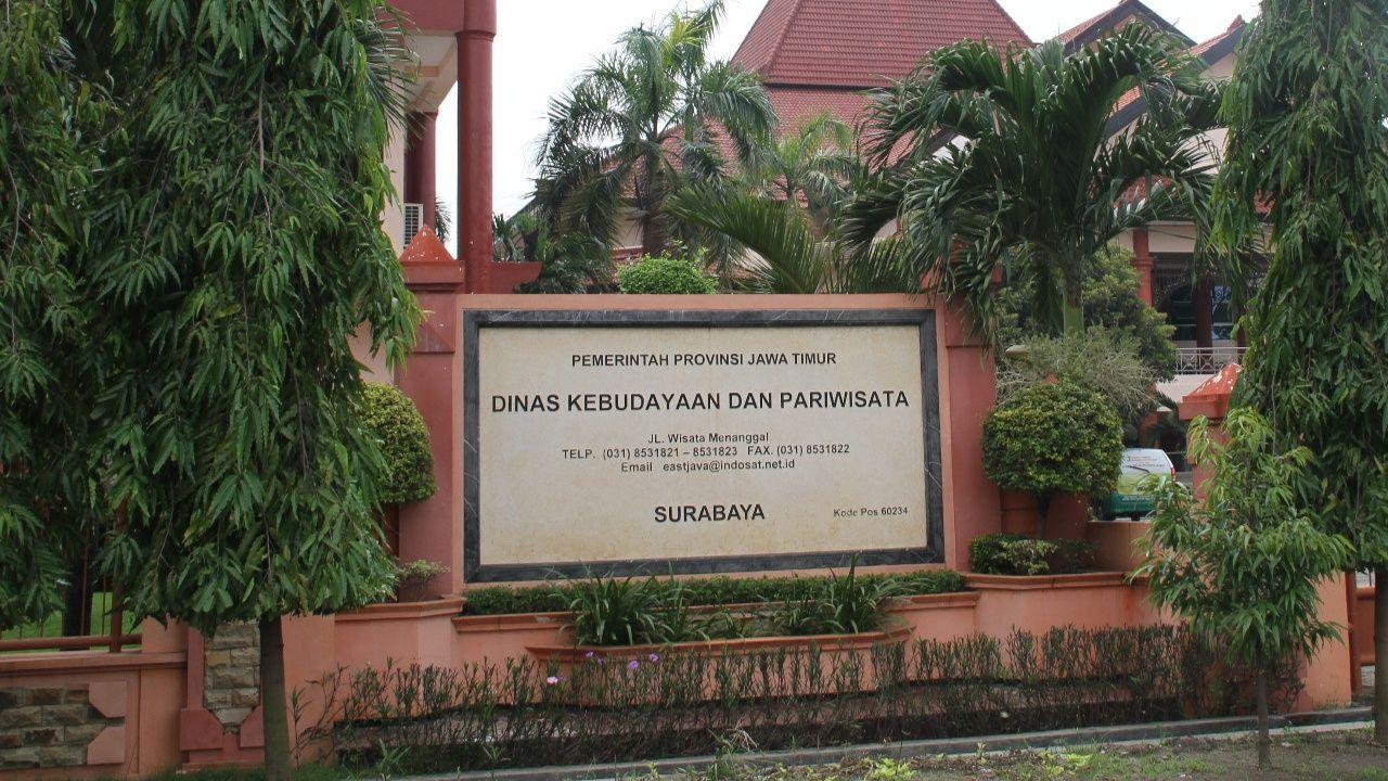 Gedung Disbudpar Jatim di Jalan Wisata Menanggal No 1 Surabaya. (Foto: Disbudpar Jatim/Tugu Jatim)