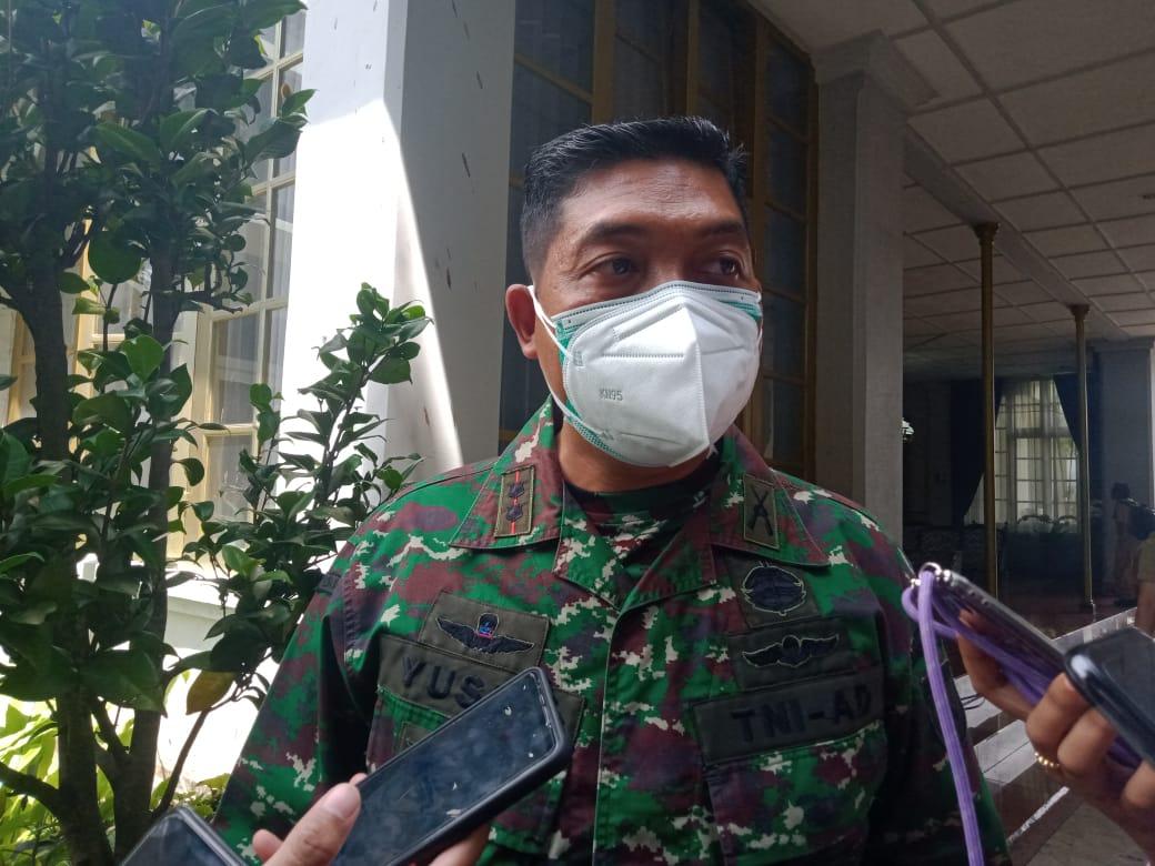 Dandim 0818 Kabupaten Malang-Kota Batu Letkol Inf Yusub Dody Sandra sudah menyiapkan 800 personel kodim. (Foto: Rap/Tugu Jatim)