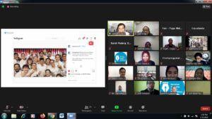 Program Fellowship Jurnalisme Pendidikan yang digelar oleh Gerakan Jurnalis Peduli Pendidikan dan CEO Paragon, Salman Subakat secara virtual, Senin (25/1/2021). (Foto: Dokumen/Tugu Malang/Tugu Jatim)