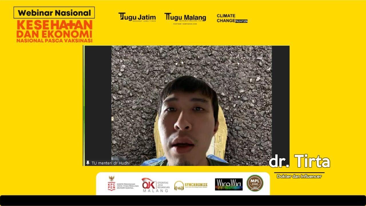 Dr Tirta dalam acara yang digelar oleh Tugu Media Group, Yakni Tugu Malang ID dan Tugu Jatim. (Foto: Dokumen)