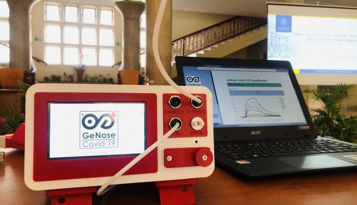 Alat deteksi COVID-19 dari bau nafas bernama GeNose buatan UGM. (Foto: Dokumen/UGM)
