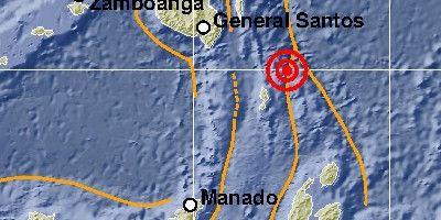 Gempa bumi dengan kekuatan M 7,0 yang terjadi di Kepulauan Talaud, Sulawesi Utara. (Foto: BMKG) tugu jatim