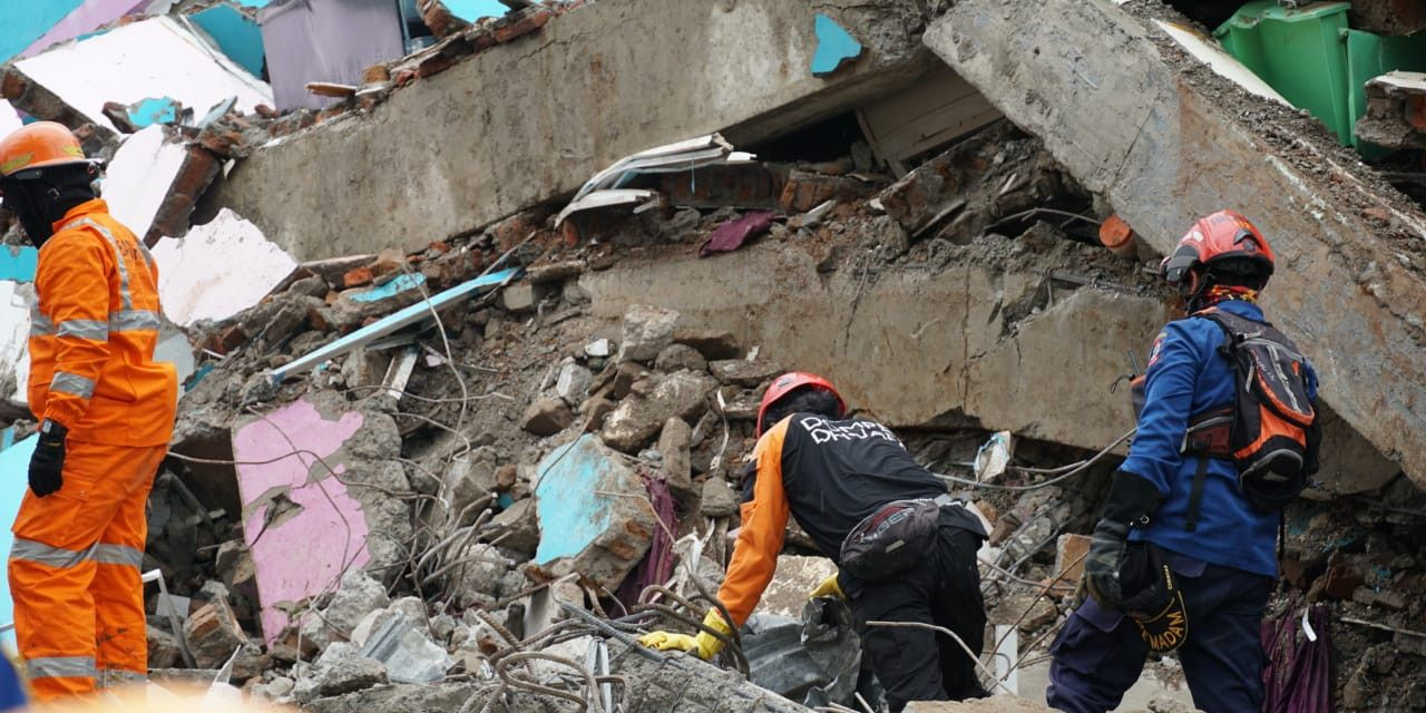 Ilustrasi gempa yang terjadi di Sulawesi Barat. (Foto: Dokumen/BNPB)