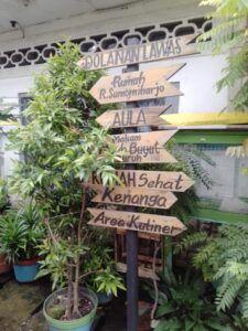 Papan petunjuk jalan untuk para wisatawan yang berkunjung ke kampung ini. (Foto: Rangga Aji/Tugu Jatim)