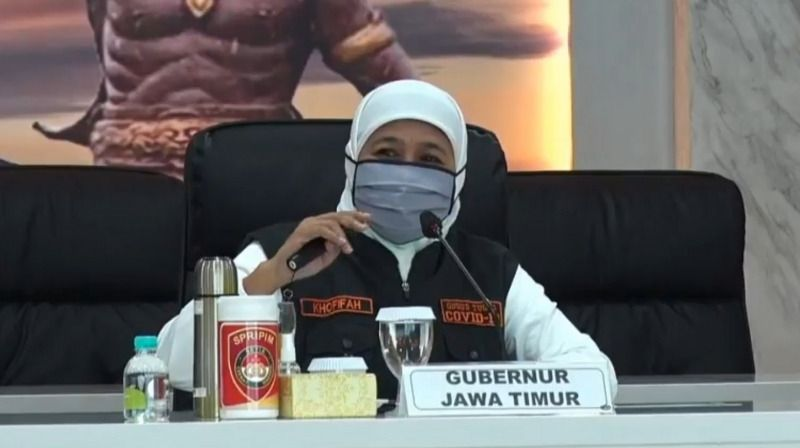 Gubernur Jawa Timur, Khofifah Indar Parawansa (Dokumen/Pemprov Jatim). hasil swab corona covid-19
