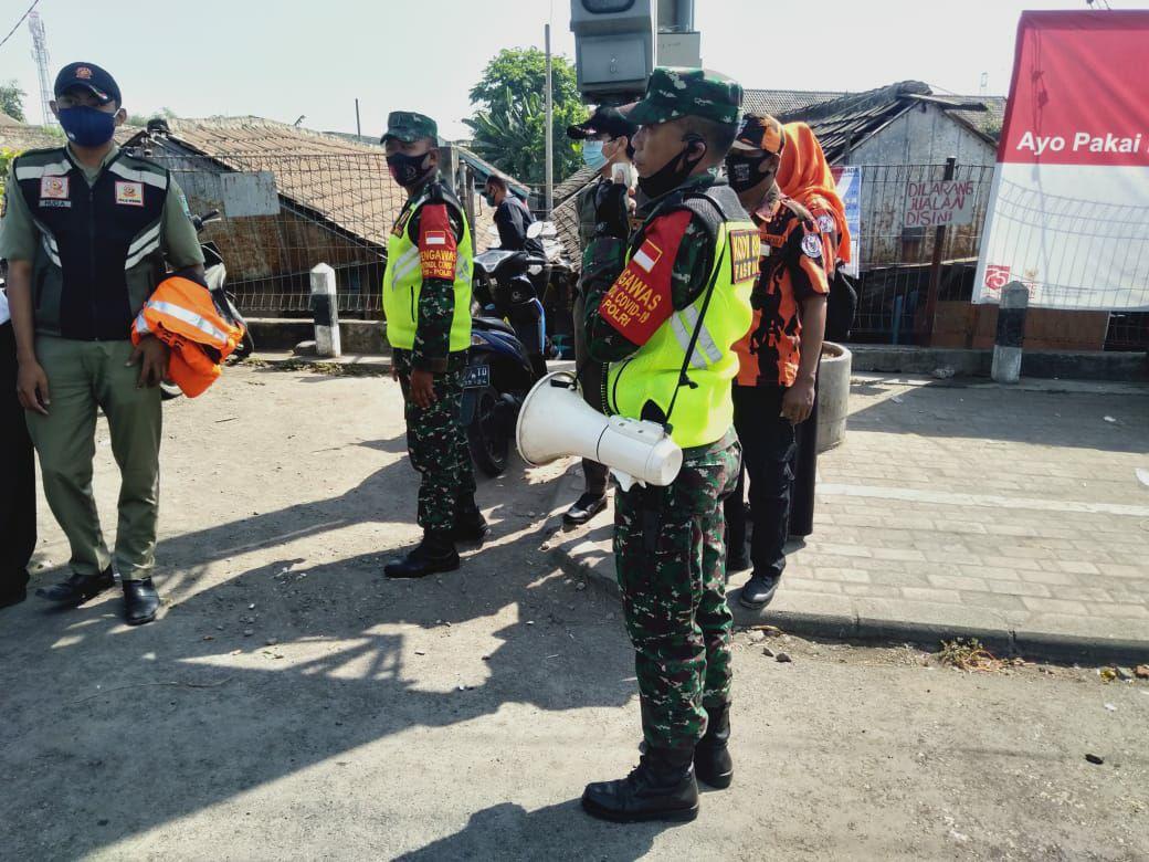 Kodim 0819 Pasuruan siap melakukan operasi untuk ingatkan protokol kesehatan kepada masyarakat. (Foto: Agus Setiawan/Tugu Jatim)