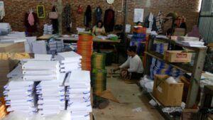 Percetakan Al-Qur'an di Semarang yang dirintis oleh Muhammad Triyono, Mantan Deputi Direktur BPJS Ketenagakerjaan Kanwil Jateng. (Foto: Dokumen)