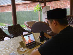 Acara bertajuk Doa Bersama Untuk Indonesia Sehat yang digelar virtual oleh PKS. (Foto: Dokumen PKS)