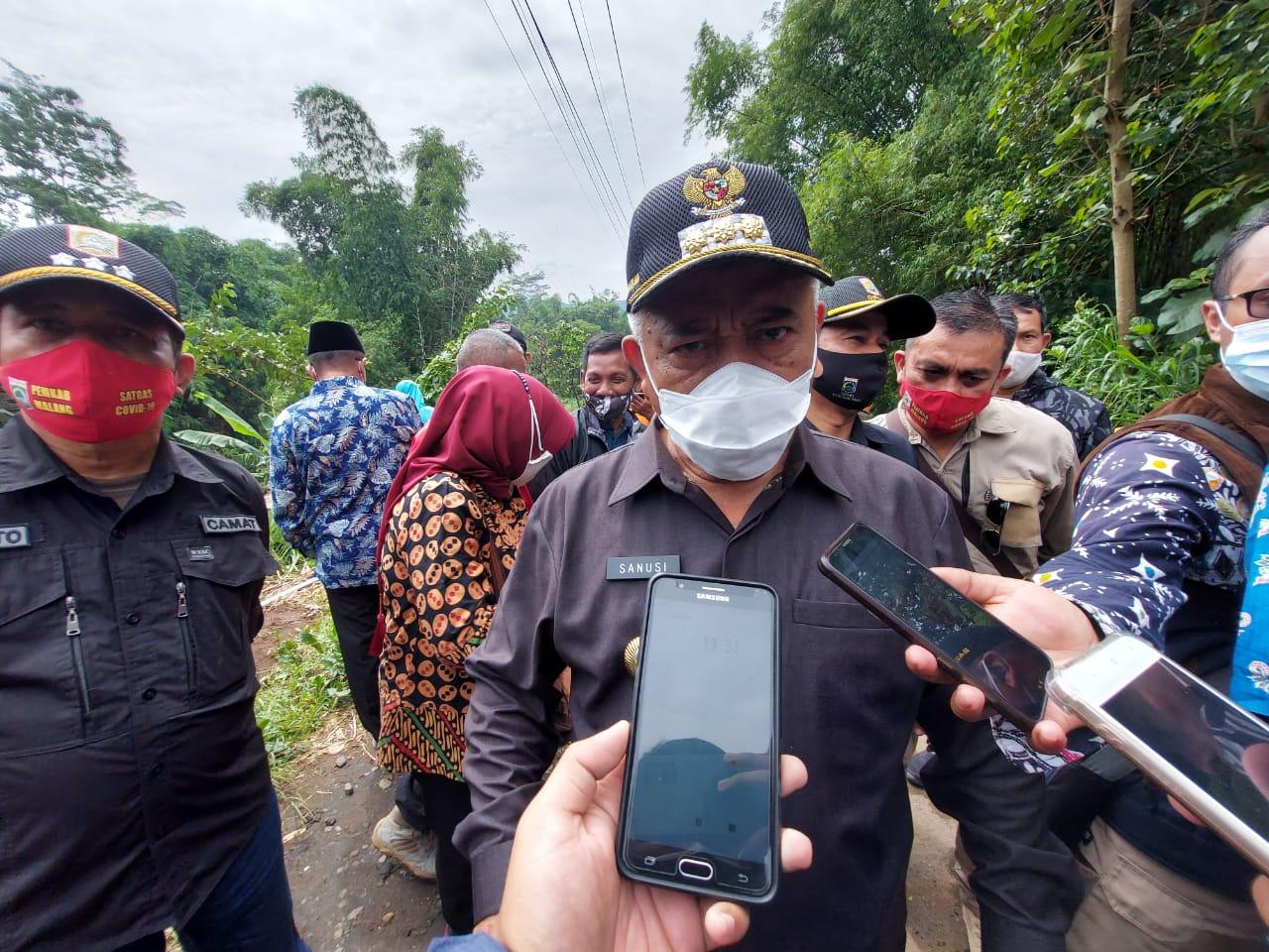Bupati Malang, Sanusi tanggapi terkait PSBB dan PPKM yang dilakukan di Malang Raya khususnya di Kabupaten Malang. (Foto: Rap/Tugu Malang/Tugu Jatim)