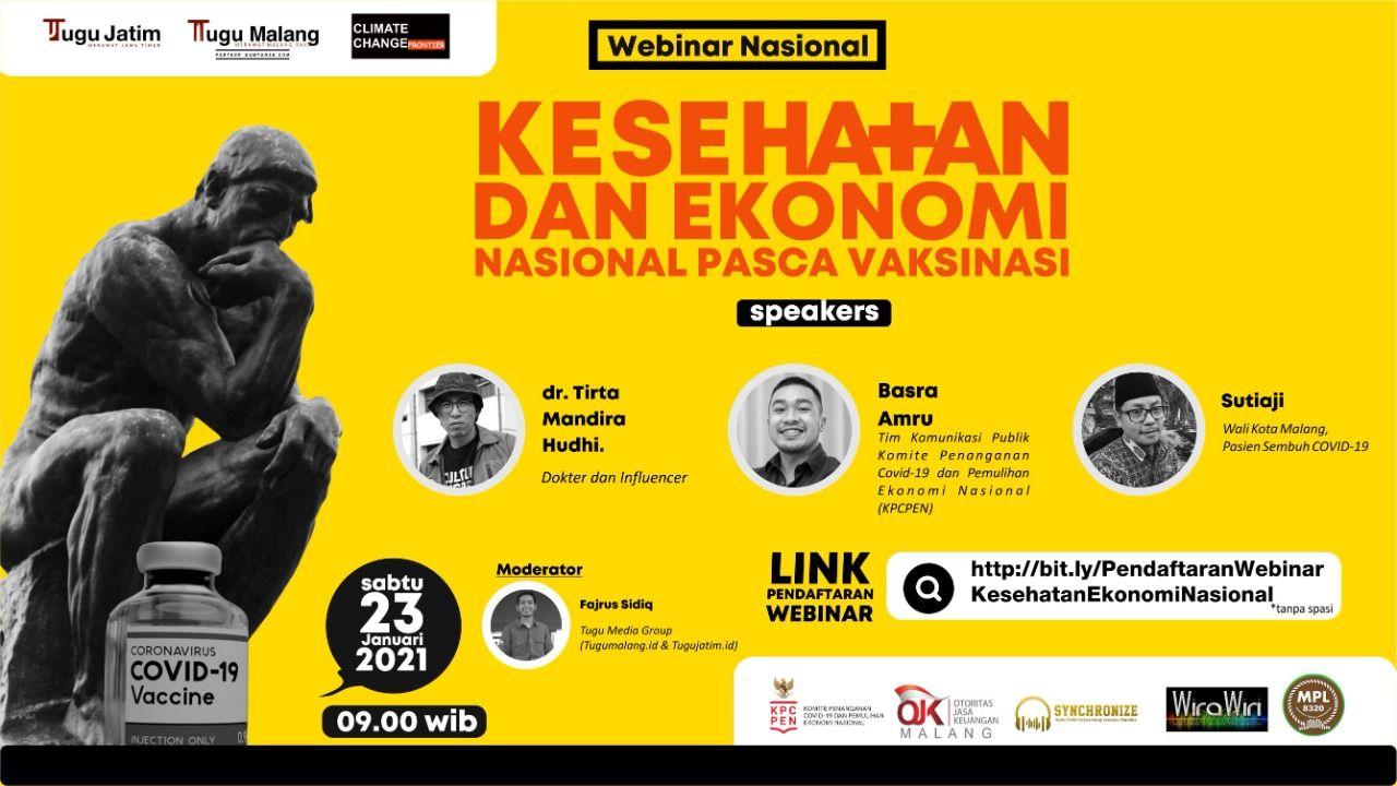 Webinar Nasional yang digelar Tugu Jatim, Tugu Malang ID, dan juga CCF. (Foto: Dokumen/Tugu Media Group)