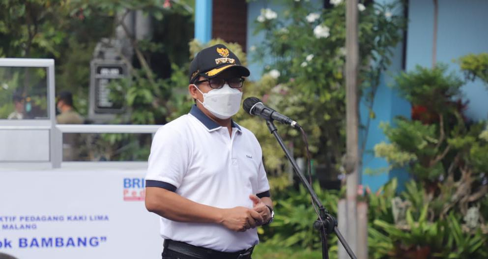 Wali Kota Malang Sutiaji menjelaskan terkait PPKM mikro. (Foto: Fen/Tugu Jatim)