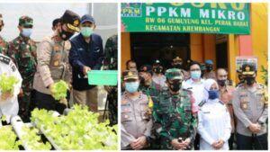 Pengecekan pelaksanaan PPKM mikro di Surabaya. (Foto: Kominfo Jatim/Tugu Jatim)