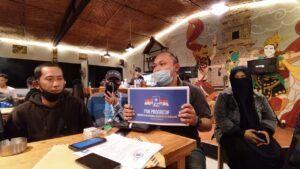 Salah satu anggota PAN Progresif. (Foto: Azmy/Tugu Jatim)