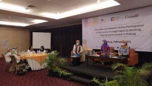 Sesi workshop merancang materi kampanye kesetaraan gender melalui berbagai platform media. (Foto: Azmy/Tugu Jatim)