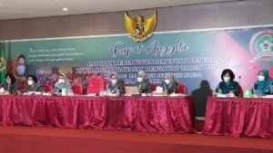 Proses rapat anggota tahunan yang dilakukan secara virtual. (Foto:Azmy/Tugu Jatim)