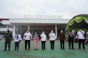 Peresmian SDN Dolokgede, Bojonegoro. (Foto: Humas Pemkab Bojonegoro/Tugu Jatim)