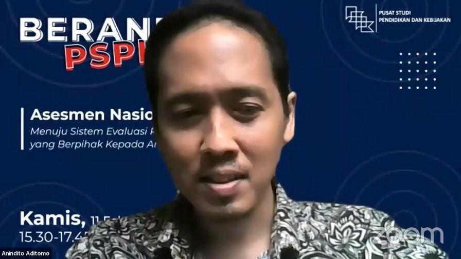 Kepala Peneliti Pusat Studi Pendidikan dan Kebijakan (PSPK), Anindito Aditomo. (Foto: Dokumen/Tugu Jatim) ujian nasional, motivasi belajar, asesmen nasional