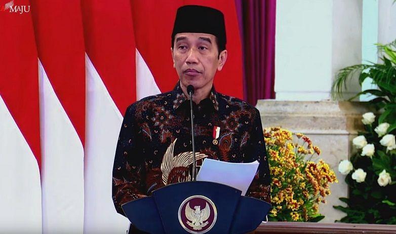 Presiden Joko Widodo (Jokowi) saat peluncuran Bank Syariah Mandiri di Istana Negara, Senin (1/2/2021). (Foto: YouTube/Sekretariat Negara) tugu jatim