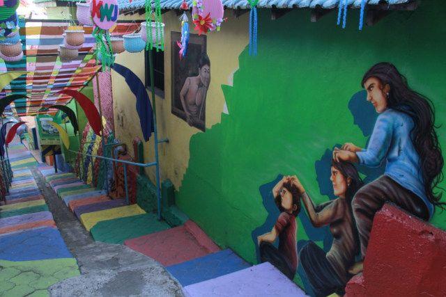 Kampung Warna Jodipan (KWJ), salah satu kampung tematik di Malang. (Foto: Ben/Tugu Malang/Tugu Jatim)