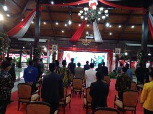 Suasana Pelantikan Bupati Malang secara daring di Pendopo Kepanjen. (Foto: RAP/Tugu Malang/Tugu Jatim)