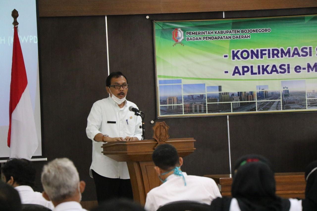 Kepala Badan Pendapatan Derah (Bapenda), Ibnu Suyuti (Foto: Istimewa) e-mamin, pajak, pemkab bojonegoro, tugu jatim